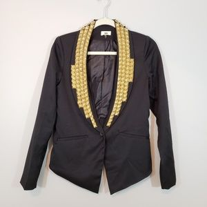 Tobi Studded Black Blazer